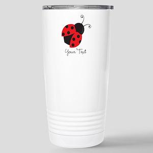 Red and Black Ladybug; Kid's, Girl's Travel Mug