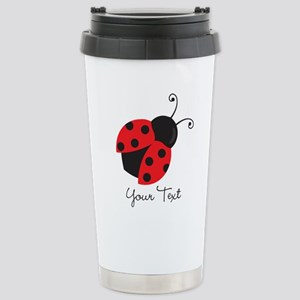 Red and Black Ladybug; Kid's, Girl's Travel Mug
