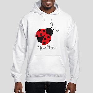 Red and Black Ladybug; Kid's, Girl's Hoodie