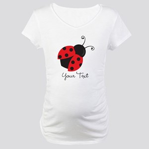 Red and Black Ladybug; Kid's, Girl's Maternity T-S