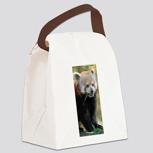 Red Panda 005 Canvas Lunch Bag