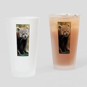 Red Panda 005 Drinking Glass