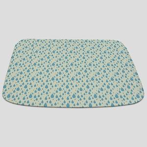 Cute Raindrops Pattern Bathmat