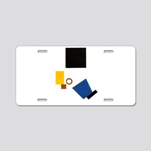 Malevich Abstract Rectangle Aluminum License Plate