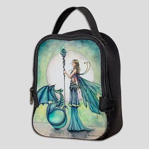 Aquamarine Dragon Fairy Fantasy Art Neoprene Lunch