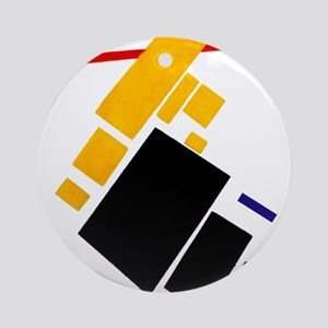 Malevich Abstract Rectangles Russ Ornament (Round)