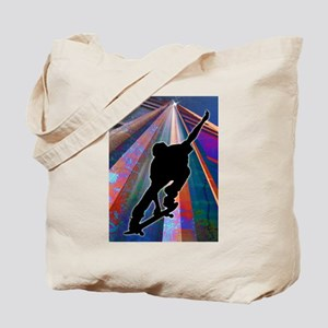 Skateboard on a Building Ray copy Tote Bag