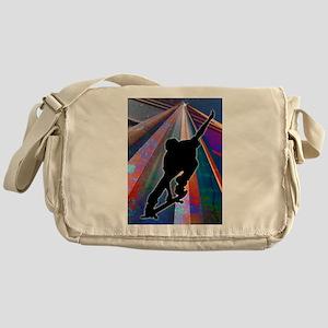 Skateboard on a Building Ray copy.pn Messenger Bag