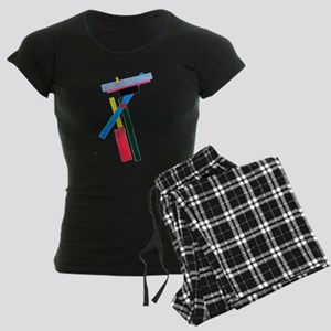 Malevich Abstract Rectangles Women's Dark Pajamas