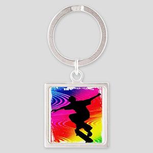 Skateboarding on Rainbow G Keychains
