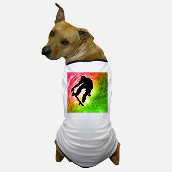 Skateboarder in a Psychedelic Cyclone. Dog T-Shirt