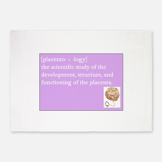 placentology 5'x7'Area Rug