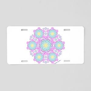 Paisley Flower Fractal Aluminum License Plate
