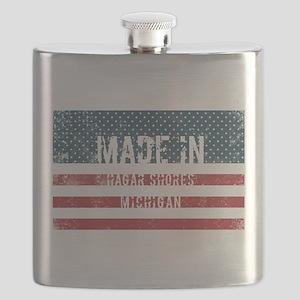 Made in Hagar Shores, Michigan Flask