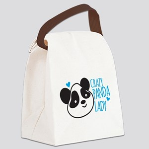 Crazy Panda Lady Canvas Lunch Bag