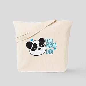 Crazy Panda Lady Tote Bag