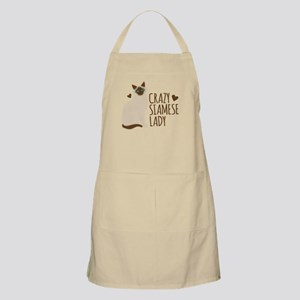Crazy Siamese CAT lady Apron