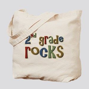 2nd Grade Rocks Second School Tote Bag