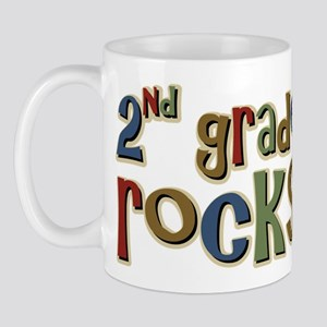 2nd Grade Rocks Second School Mug