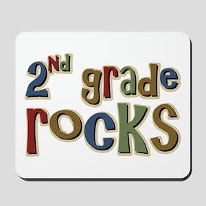2nd Grade Rocks Second School Mousepad