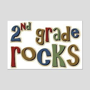 2nd Grade Rocks Second School Mini Poster Print