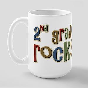 2nd Grade Rocks Second School Large Mug