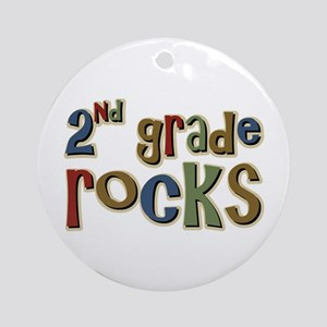 2nd Grade Rocks Second School Ornament (Round)
