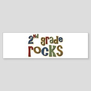 2nd Grade Rocks Second School Bumper Sticker