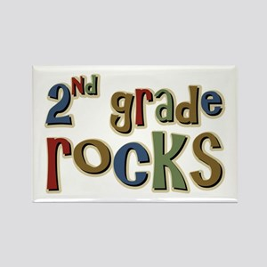 2nd Grade Rocks Second School Rectangle Magnet