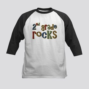 2nd Grade Rocks Second School Kids Baseball Jersey
