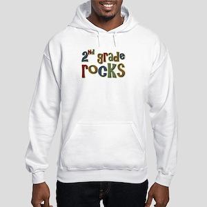 2nd Grade Rocks Second School Hooded Sweatshirt