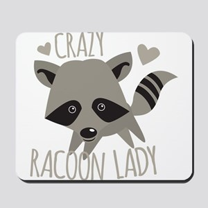 Crazy Racoon Lady Mousepad