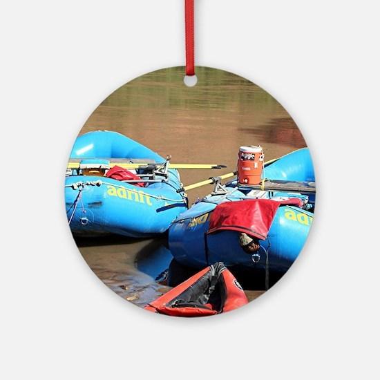 Rafts, Colorado River, Utah, USA Ornament (Round)