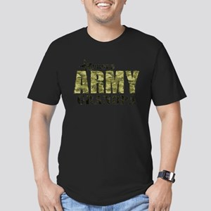 Camo Proud Army Grandp Men's Fitted T-Shirt (dark)
