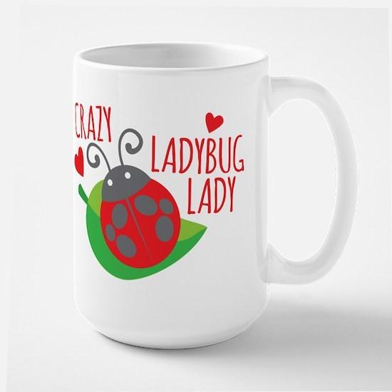 Crazy Ladybug Lady Mugs