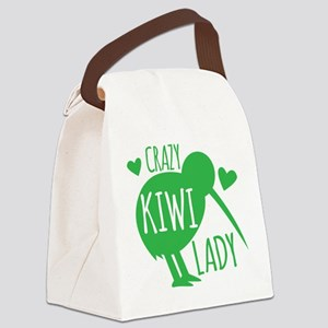 Crazy Kiwi Lady Canvas Lunch Bag