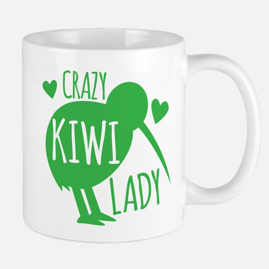 Crazy Kiwi Lady Mugs