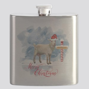 Merry Christmas North Pole Goat Flask