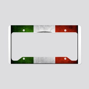Italian Flag License Plate Holder