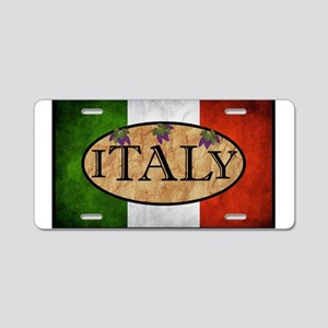 Italian Flag Aluminum License Plate