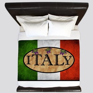 Italian Flag King Duvet