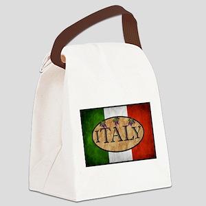 Italian Flag Canvas Lunch Bag
