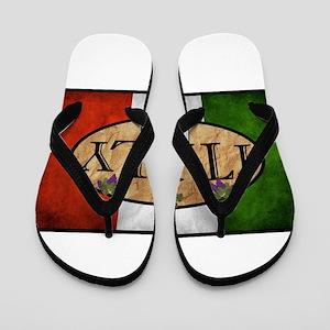 Italian Flag Flip Flops