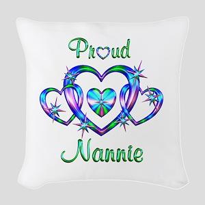 Proud Nannie Woven Throw Pillow