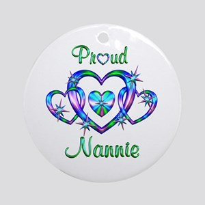 Proud Nannie Ornament (Round)