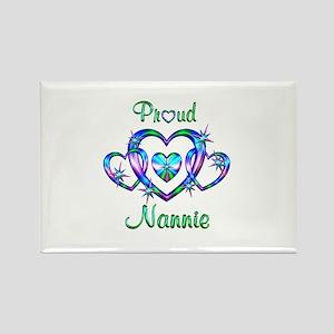 Proud Nannie Rectangle Magnet