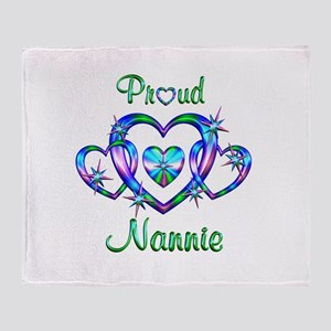 Proud Nannie Throw Blanket
