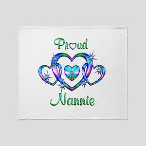 Proud Nannie Throw Blanket