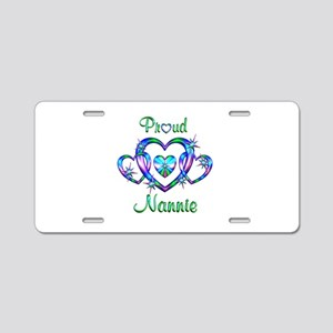 Proud Nannie Aluminum License Plate