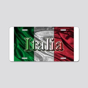 Italian Flag Graphic Aluminum License Plate